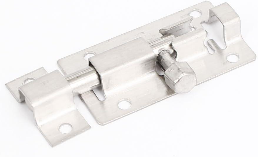 "Cabinet Door 4/"" Long Iron Slide Latch Barrel Bolt Safety Lock Black 2pcs"