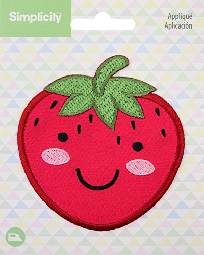 Wright Strawberry - Wrights Strawberry Baby Iron-On Applique