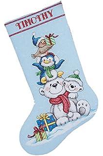 Cross Stitch Kit ~ Dimensions Llama Christmas Stocking #70-08977