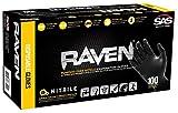 SAS Safety 66520 Raven Powder-Free Disposable Black