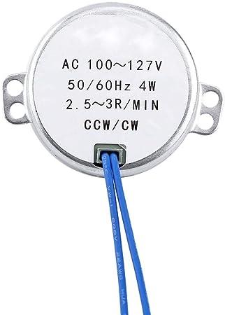 Synchronous Motor AC 100-127V 2.5-3RPM//Min 4W 50//60Hz CCW//CW