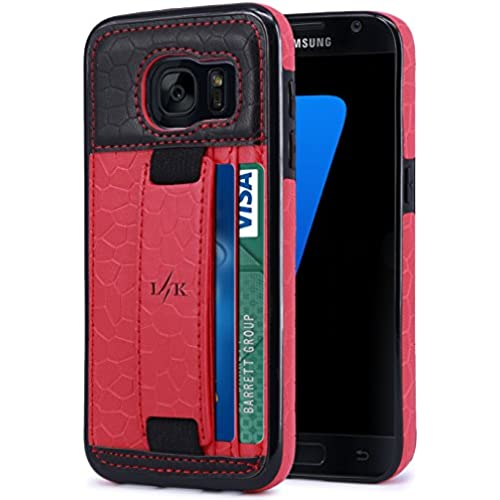 S7 Case, LK [Slim Wallet] Luxury PU Leather Flip Protective Case Cover with Card Slots & Stand For Samsung Galaxy Sales