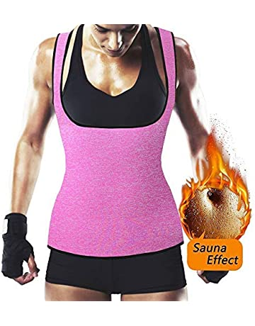 b7098d4358 NHEIMA Faja Reductora Mujer Camisetas Sauna Adelgazantes para Mujer Chaleco  de Neopreno Corset para Sudoración