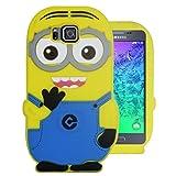 Heartly Cute Cartoon Soft Rubber Silicone Flip Bumper Best Back Case Cover For Samsung Galaxy Alpha 4G SM-G850FQ Double Eye