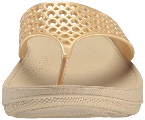 Fitflop Ringer Welljelly Flip Flops - Sandalias con Tacón Mujer Oro (Gold)