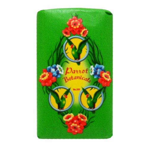Parrot Botanicals Soap Green No.333 Long Lasting Fragrance Net Wt 80 G X 5 Bars Original (Bar 333)