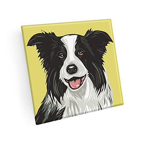 Set of 4 Border Collie Coasters by Naked Decor