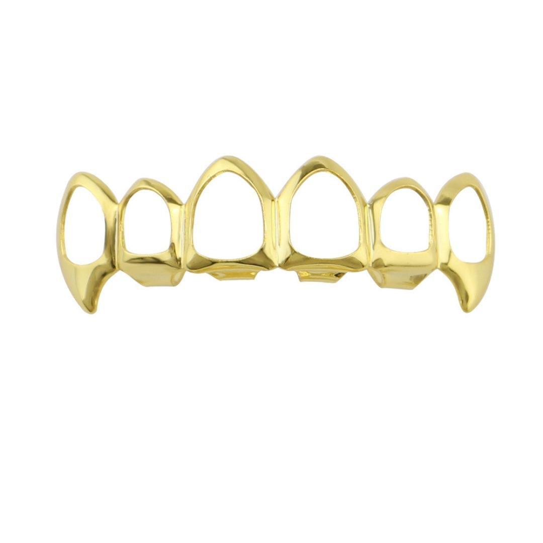 Inkach Denture Teeth, Hip Hop Cosmetic Upper Teeth Veneer Dental Grills Teeth Denture Model (A)