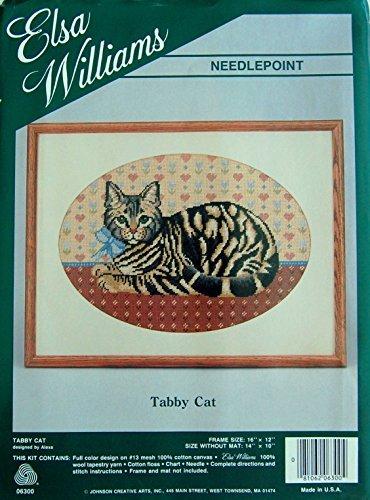 Elsa Williams Needlepoint Kit Tabby Cat 06300 By Alexa