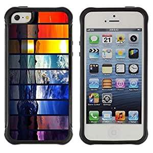 Hybrid Anti-Shock Defend Case for Apple iPhone 5c 5c Beautiful World Seasons