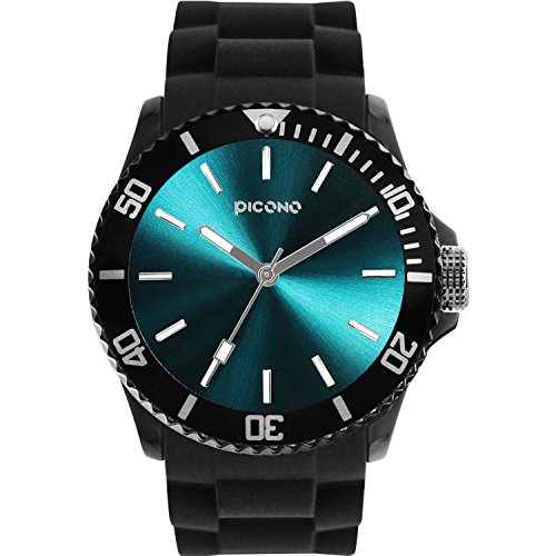 PICONO Balloon Water Resistant Analog Quartz Watch - Turquoise by PICONO