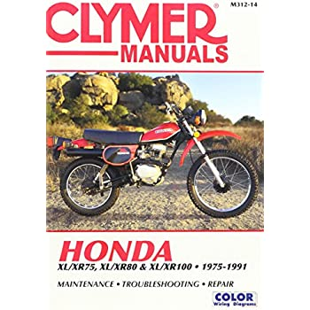 amazon com 81 91 honda xr100 clymer service manual misc automotive rh amazon com rx 100 service manual yamaha rx 100 service manual download