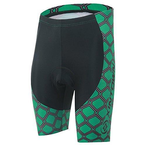 Spoz Men Dark Green Cycling Padded Shorts XXXL