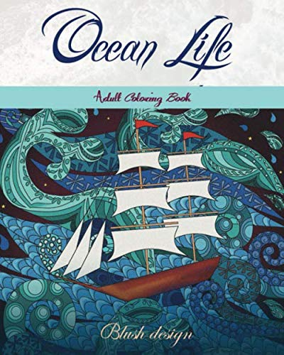 Ocean Life: Adult Coloring Book