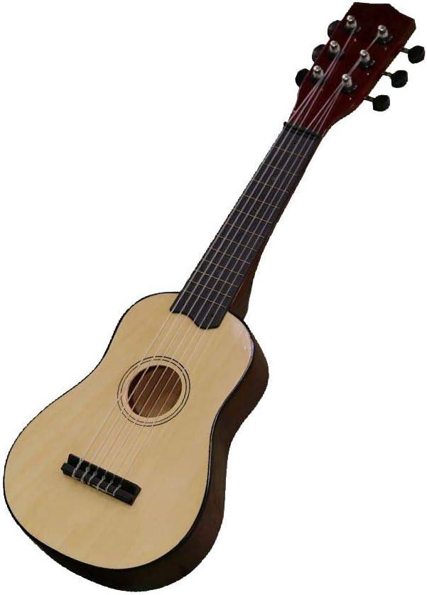 naturfarben Kindergitarre aus Holz Holzgitarre zum Lernen Musikinstrument f/ür Anf/änger Concerto 701201P Gitarre 55 cm mit Plektrum Konzertgitarre zum /Üben Anf/ängergitarre f/ür Kinder ab 3 Jahren