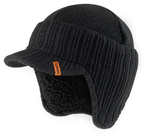 Scruffs Peaked Beanie Sombrero Negro Con aislamiento térmico invierno cálido de punto elegante Peak Cap color negro T50986