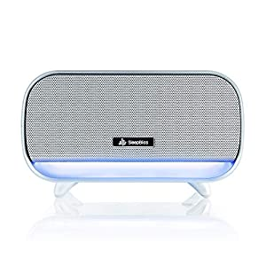SleepBliss White Noise Sound Machine   Portable Soothing Therapy for Sleeping   24 High-Fidelity Natural Sounds   Negative Ion Purifier   2 Night Lights   Auto Timer, For Baby, Office, Nursery, Travel
