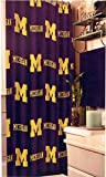 Officially Licensed NCAA Michigan Wolverines Shower Curtain