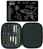 Ultimate Arms Gear Gunsmith & Armorer's Cleaning Work Bench Gun Mat Heckler & Koch H&K HK USP + Professional Tactical Cleaning Tube Chamber Barrel Care Supplies Kit Deluxe 17 pc Handgun Pistol Cleaning Kit in Compact Molded Field Carry Case for .22 / .357