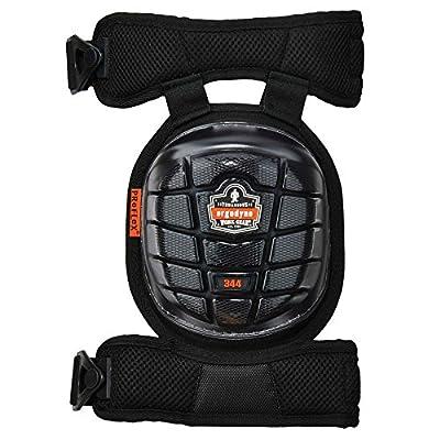 ProFlex 344 Professional Knee Pads, Protective Short Cap, Injected Gel Techology, Adjustable Padded Comfort Straps, Black