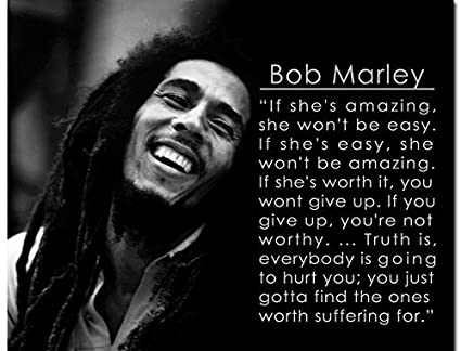 Bob Marley Motivational Quotes Art Silk Poster 24x32 Inches