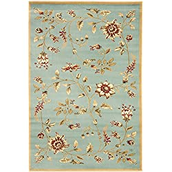 Safavieh Lyndhurst Collection LNH552-6591 Traditional Floral Blue and Multi Area Rug (4' x 6')