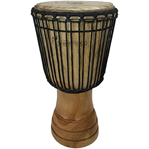 Hand-carved Djembe Drum From Africa - 11''x22'' Classical Heartwood Djembe by Africa Heartwood Project