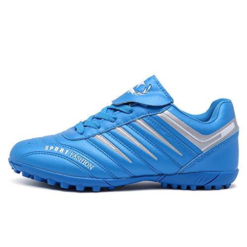 Xing Lin Botas De Fútbol Nueva Uña Rota Zapatos De Fútbol Jóvenes Estudiantes Adultos Pie Cuero Antideslizante Chicos Y Chicas Zapatos De Fútbol Sky blue