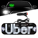 Sidaqi Led Sign Light Green Glowing Decal with DC12V Cigarette Charger on Car Window Windshield Cab Interior Indicator Lamp for Driver