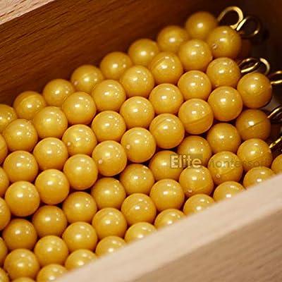 Elite Montessori 45 Golden Bead Bars of 10 with Box: Toys & Games