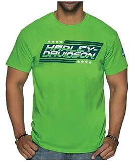 Safety Green Harley-Davidson Men/'s Skull Chest Pocket Short Sleeve T-Shirt