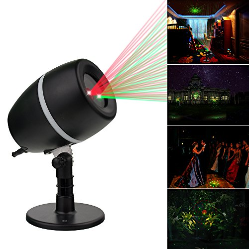 LED Galaxy Star Laser Light Shower IP65 Waterproof Projector Show Green + Red for Outdoor Garden Landscape Halloween,Christmas Light or Indoor Home Party Wall Decoration .