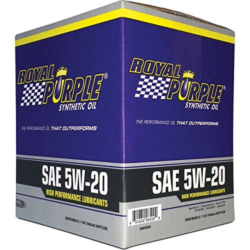 Royal Purple 01520 SAE Multi-Grade Synthetic Motor Oil 5W20 Pack of 6 Quarts