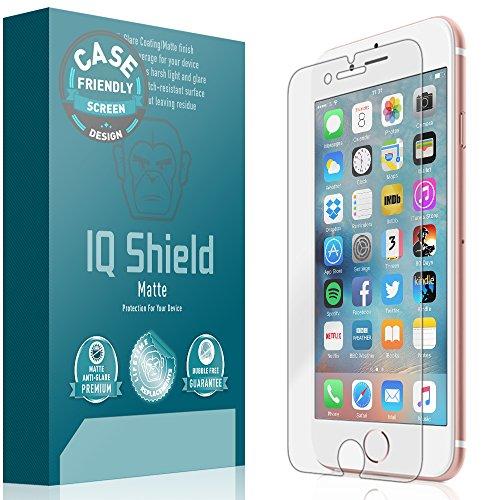 Apple iPhone 7 Screen Protector, IQ Shield Matte Full Coverage Anti-Glare Screen Protector for Apple iPhone 7 (Case Friendly) Bubble-Free Film