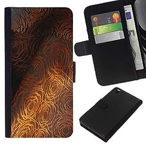 All Phone Most Case / Oferta Especial Cáscara Funda de cuero Monedero Cubierta de proteccion Caso / Wallet Case for HTC DESIRE 816 // Fine Textile Pattern Grey Rose