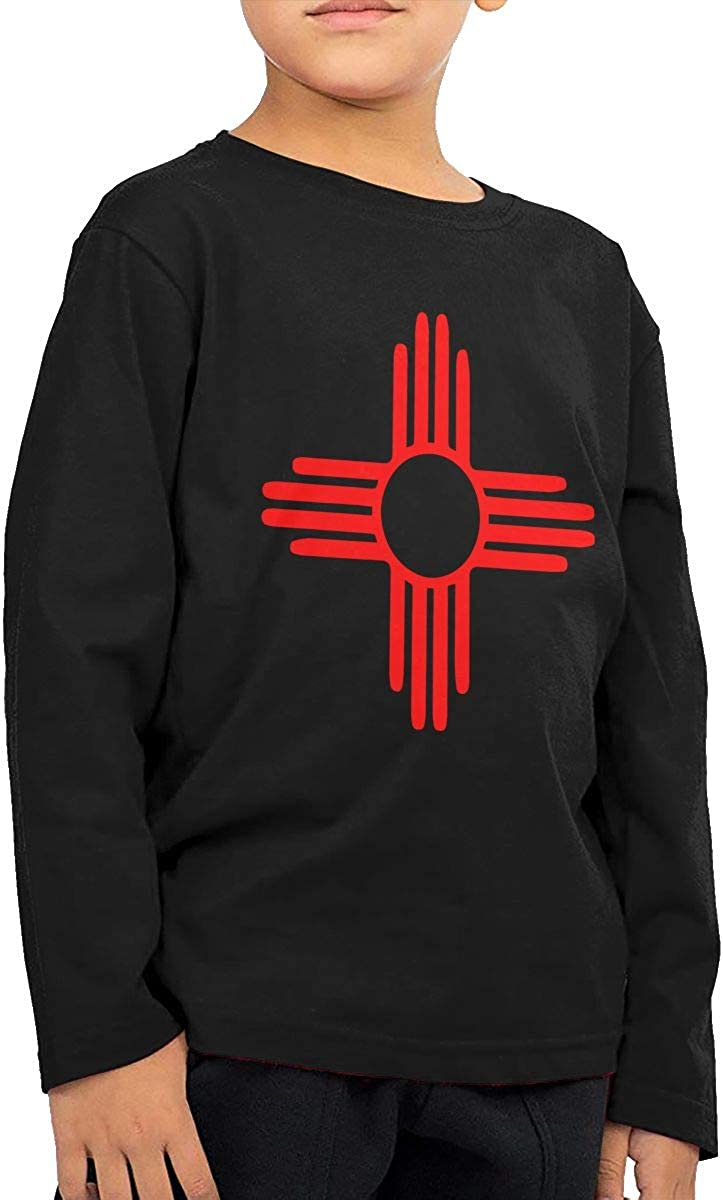 New Mexico Sun Zia Kids Long Sleeve Crew Neck Cotton T-Shirts Top Tees for 2-6T Baby