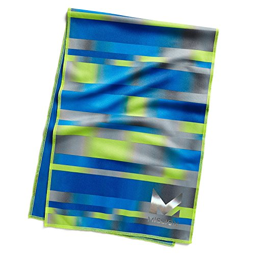 Mission HydroActive Max Large Cooling Towel, Bandwith Cobalt Blue, 11 x 33