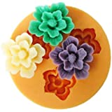 Longzang F0049 Flower Fondant Silicone Sugar Craft Mold, Mini, Pink