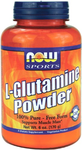 NOW Glutamine Pure Powder, 6-Ounces by NOW Foods