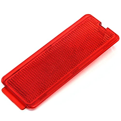 Premium Door Reflector Interior Red fits Ford SuperDuty 1999-2007 F250 F350 F450 F550 Super Duty, 00-05 (F350 Super Duty Rear Door)