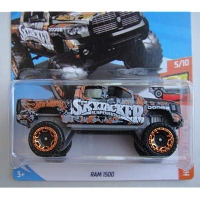 Hot Wheels HOT Trucks 5/10, Black RAM 1500 298/365 50TH Anniversary Card: Toys & Games