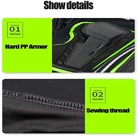HHHKKK Chest Back Protector Motorcycle Armor Vest Motorcycle Riding Chest Armor Back Armor Protective Body Vest Armor protection for Riding Skating Scooter Skiing