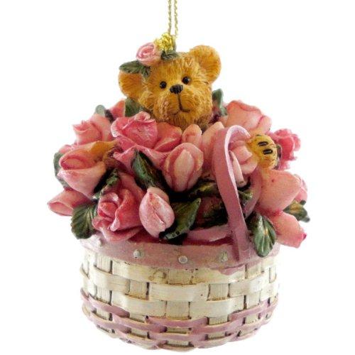 Boyds Bears Resin Rosie Bloombeary Ornament Longaberger - Resin 2.50 IN
