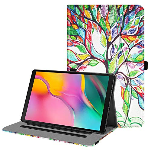 Fintie Case for Samsung Galaxy Tab A 10.1 2019 Model SM-T510(Wi-Fi) SM-T515(LTE), Multi-Angle Viewing Stand Cover with Packet, Love Tree