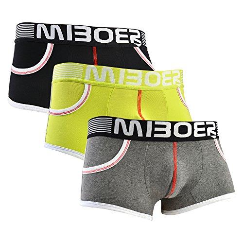 Maygold Men's Underwear Cotton Trunks 3-Pack Boxer Briefs Size M/L/XL