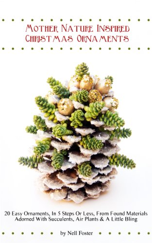 Mother Nature Inspired Christmas Ornaments: 20 Easy Ornaments, In 5 Steps Or Less, From Found Materials Adorned With Succulents, Air Plants & A Little Bling
