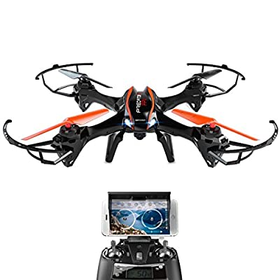 DBPOWER UDI U842 Predator WiFi FPV Drone with HD Camera 2.4G 4CH 6 Axis Gyro RTF Low Voltage Alarm, Gravity Induction and Headless Mode Includes Bonus Battery from DBPOWER