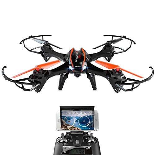 DBPOWER-UDI-U842-Predator-WiFi-FPV-Drone-with-HD-Camera-24G-4CH-6-Axis-Gyro-RTF-Low-Voltage-Alarm-Gravity-Induction-and-Headless-Mode-Includes-Bonus-Battery