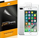 iPhone 7 Plus [Front + Back] Full Body Screen Protector, Supershieldz Anti-Bubble High Definition (HD) Clear Screen Shield -Lifetime Replacements Warranty [3 Front and 3 back] - Retail Packaging