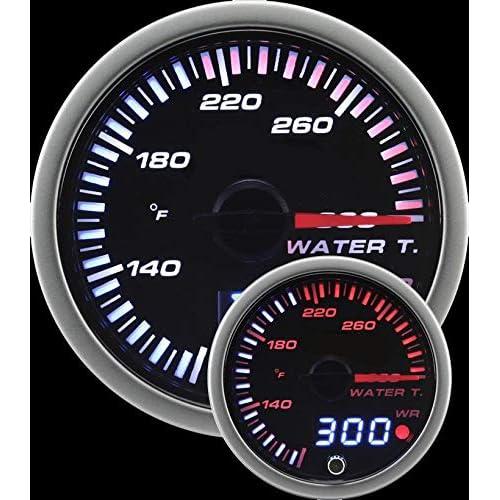 Prosport Universal 60mm JDM Water Temperature Gauge 80-300F